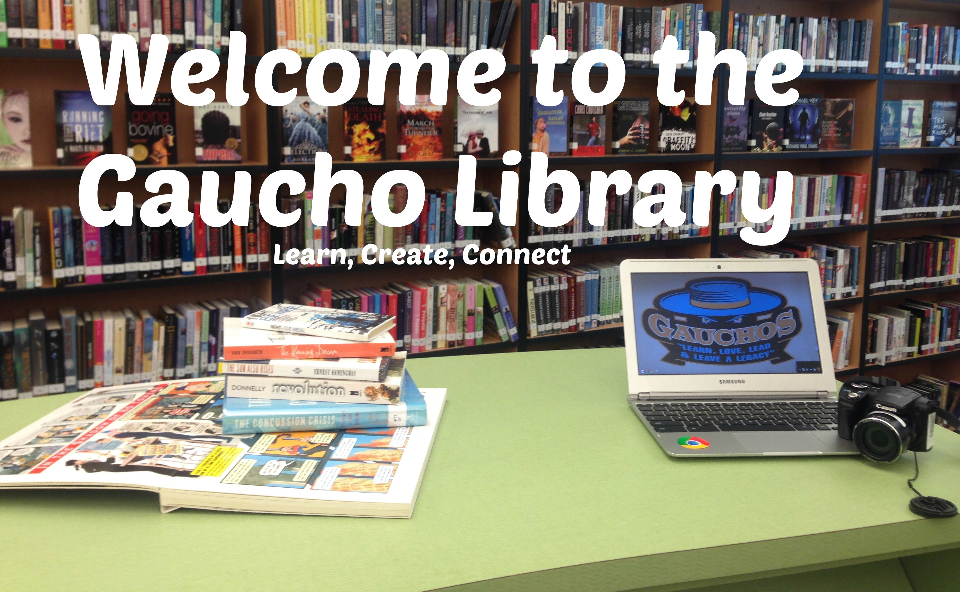 Welcome to the gaucho library.  Learn, create, connect