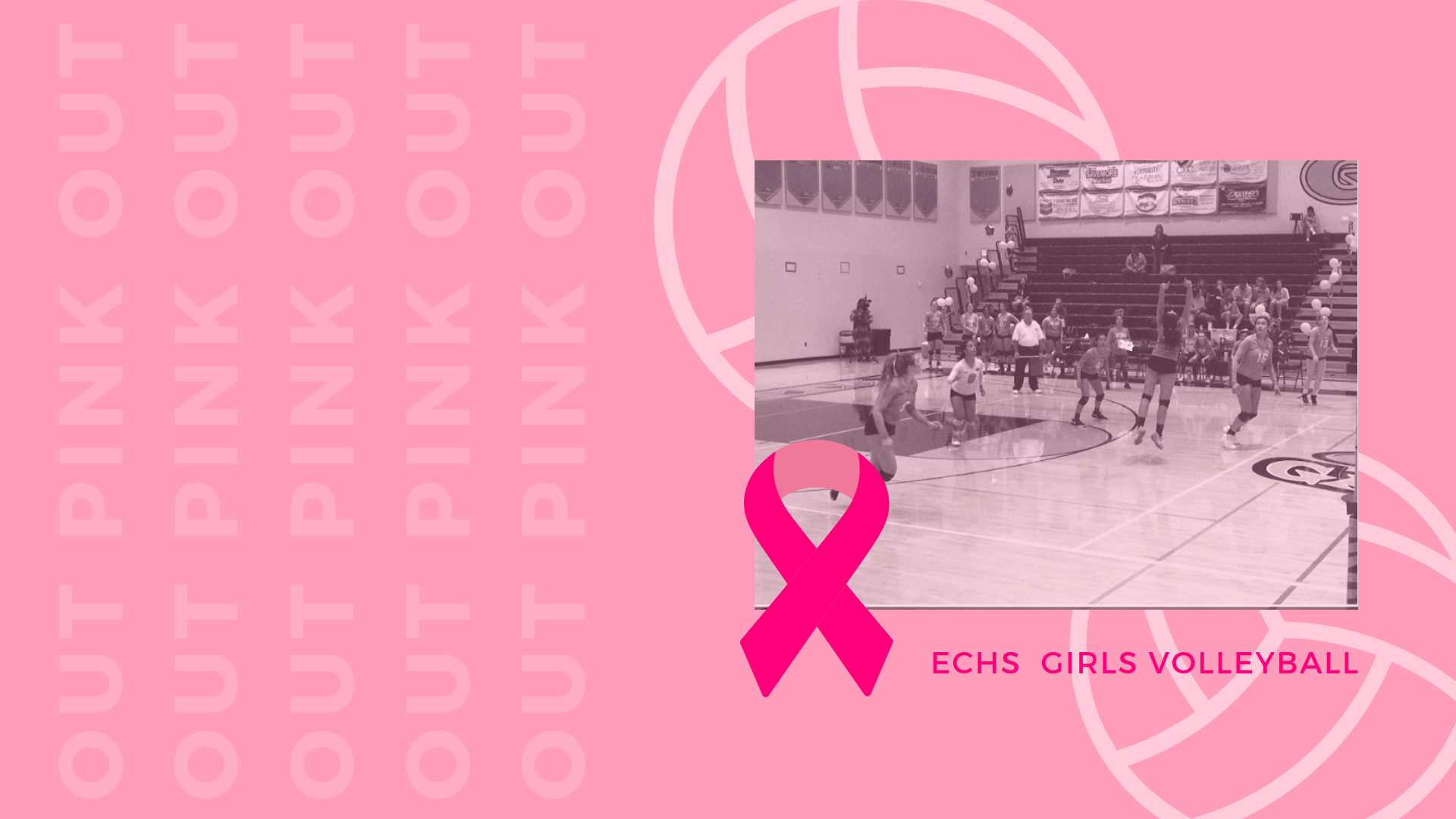 It's Pink Out Time! The Girls Volleyball game against Merced High School and a reflection on the overall season